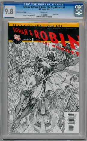 All Star Batman & Robin #1 Jim Lee RRP Retailer Incentive Sketch Variant CGC 9.8 DC comic